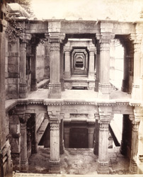 View of the upper galleries of Dada Harir's Well, Ahmadabad